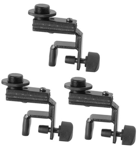 3-Pack Of On Stage Dm01 Drum Rim Microphone Clips