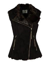 GAS Women's Faux Fur Jacket (81689_Chocolate_42)