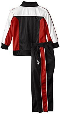 U.S. Polo Assn. Little Boys' Brushed Tricot Athletic Set
