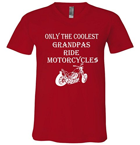 Only The Coolest Grandpas Ride Motorcycles Bike V-Neck T-Shirt