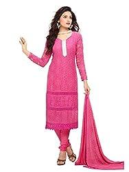 Isha Enterprise Women's Pure Chiffon Dress Material(KFD452-1865_Pink)