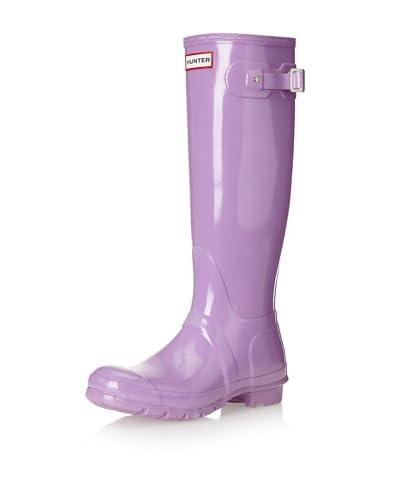 Hunter Boots Women's Classic Tall Original Glossy Rainboot  [Lavender]
