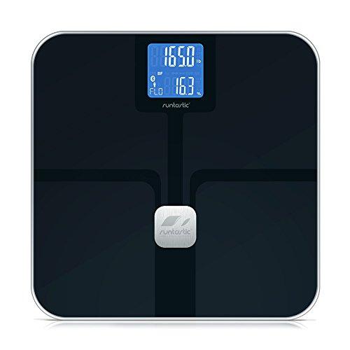 Runtastic Libra Bilancia Bluetooth per Smartphone/Tablet, Compatibile con iOS e Android, Nero