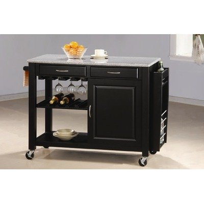 Cottonwood Kitchen Island in Black