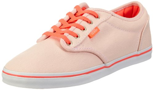 Vans W ATWOOD LOW (TWILL) PSTLPK/ Trainers Womens Pink Pink ((Twill) pastel pink/neon coral) Size: 5 (38 EU)