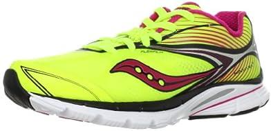 SAUCONY Kinvara 4 Ladies Running Shoes, Yellow/Black, UK4