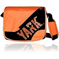 Yark Women's Messenger Bag Black & Orange Y2101Blackorange