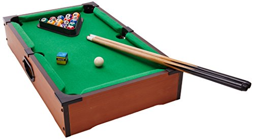 Desktop Miniature Pool Table Set With Mini Pool Balls Cue Sticks - Mini billiards table set