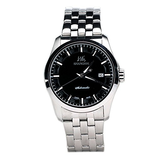 Luxury Brand Business Black Dial 316L Stainless Steel Automatic Men Watches Date Display