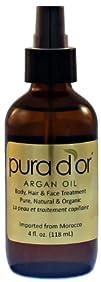 Pura d'or 100% Pure & USDA Organic Ar…