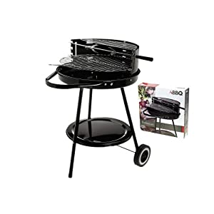hibachi round portable garden barbeque wheel barrel charcoal bbq grill 674105. Black Bedroom Furniture Sets. Home Design Ideas