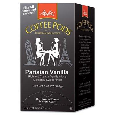 MLA75411 - Melitta Coffee Pods, Parisian Vanilla Flavored Coffee ,18-Count