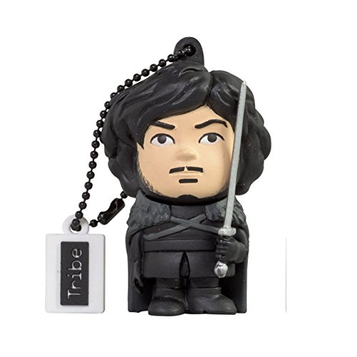 Tribe FD032505 Games of Thrones Pendrive 16 GB Simpatiche Chiavette USB Flash Drive 2.0 Memory Stick Archiviazione Dati, Portachiavi, Jon Snow
