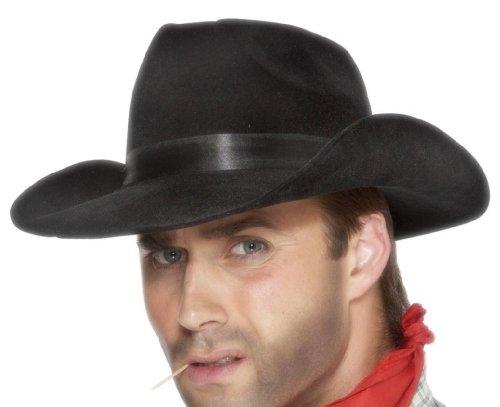 Cappello Cowboy In Velluto Nero