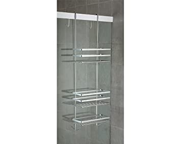 587 90 duschregal badregal h ngeregal 3 etagen ohne bohren. Black Bedroom Furniture Sets. Home Design Ideas
