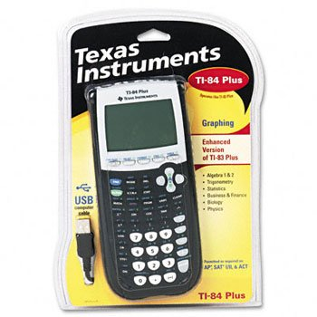 Texas Instruments TI-84PLUS Programmable Graphing Calculator CALCULATOR,GRAPHING,BK DPCL50P (Pack of 2)