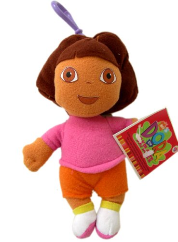 Nick Jr Dora The Explorer Zipper Pull Plush - Small Dora Stuffed Animal Keychain