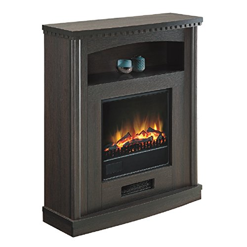 Comfort Glow Ef5538 Briarton Electric Fireplace In Toasted Mocha Finish, 1500-Watt