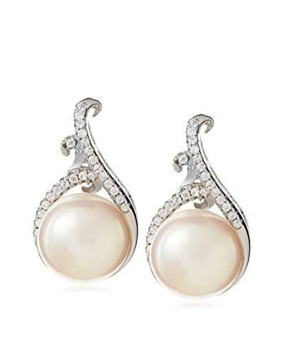Radiance Pearl 9mm White Freshwater Pearl & Crystal Earrings