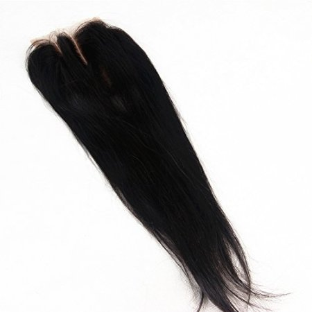 E-forest-hair-Virgin-100-Brazilian-Remy-Human-Hair-3-Way-Part-Silky-Straight-354-Top-Lace-Closure-Natural-Black-8-inch130-Density-Bleached-Knots-Baby-Hair-EJ-04