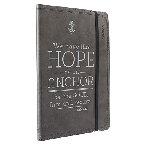 Pewter Hope as an Anchor Flexcover Journal / Notebook - Hebrews 6:19 PDF