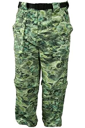 Aqua Design Mens Voyager Fishing Camo Zip Off Short Wading Pants 2XL, Grey by Aqua Design