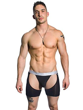 Almost Naked Chap Thong, Black, X-Small