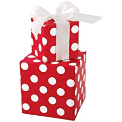 Bright Red & White Polka Dot Gift Wrap Wrapping Paper 16 Foot Roll