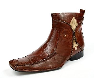 delli aldo mens dress ankle boots shoes brown