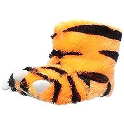 carter\'s Tiger Slipper (Toddler/Little Kid), Orange/Black, Medium (7/8 M US Toddler)