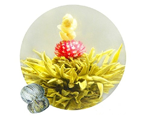 Be Oneself Fresh Flavor Natural Craft Flower Tea Blooming Jasmine Flower Tea Ball Good Luck And Sucess In Life Set Of 10 80G Unique Healthy Tea