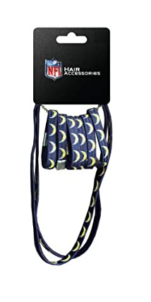 NFL San Diego Chargers Hair Accessory 6-Elastic Ponytail Bands and 2-Elastic Head Bands