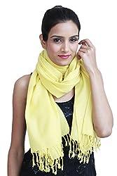 Premium Pure wool solid Yellow Shawl