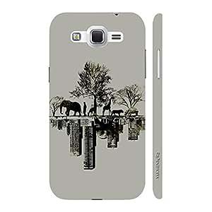 Enthopia Designer Hardshell Case Forest Vs City Back Cover for Samsung Galaxy J2 (2016)