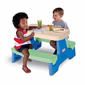 little tikes easy store juniour play table bluegreen toys games. Black Bedroom Furniture Sets. Home Design Ideas