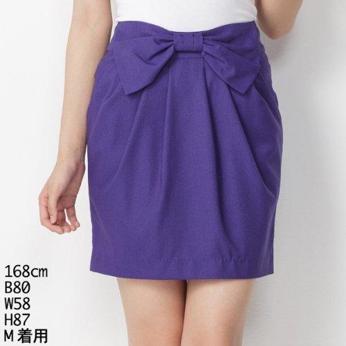 セシルマクビー(CECIL McBEE) スカート(リボンタイトスカート)【パープル/M】