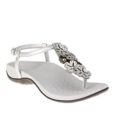 Orthaheel Vionic With Orthaheel Technology Womens Julie Ii Sandal Pewter Size 5
