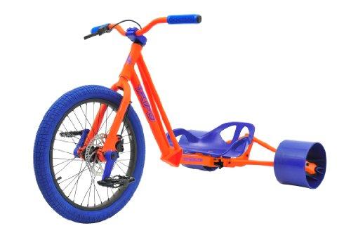 Bike Rassine Syndicate Drift Trike, Orange Frame with Blue Trim