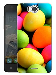 """Colorful Eggs Printed Designer Mobile Back Cover For """"Google Infocus M530"""" By Humor Gang (3D, Matte Finish, Premium Quality, Protective Snap On Slim Hard Phone Case, Multi Color)"""