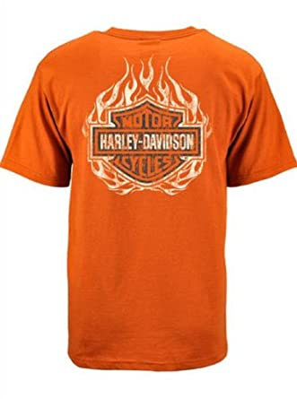Harley-Davidson® Men's Men's Screamin' Eagle T-Shirt. Silk Screened. Orange. HARLMT0133