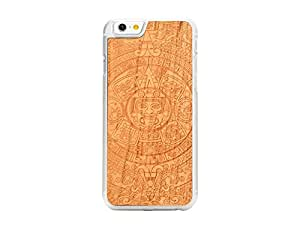 CARVED Aztec Calendar Engraved Cherry iPhone 6/6s Clear Case