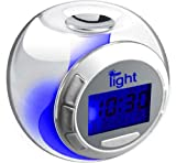 iBoutique 7 Colour Changing Mood Alarm Clock With Natural Sounds - Room Temperature Display - Date & Weekday Display