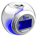 iBoutique 7 Colour Changing Mood Alarm Clock With Natural Sounds - Room Temperature Display - Date & Weekday Displayby iBoutique�