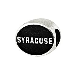Syracuse University Bead in Sterling Silver Officially licensed by the University