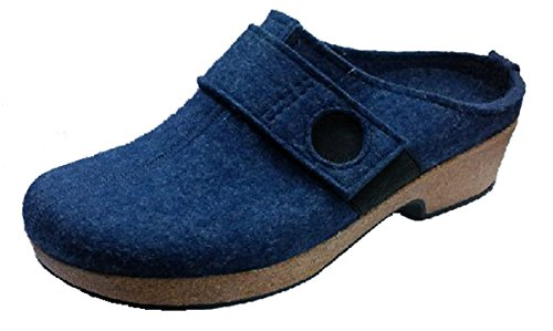 Haflinger Grizzly wedge wikinger 711030072, pantofola donna zeppa, jeans