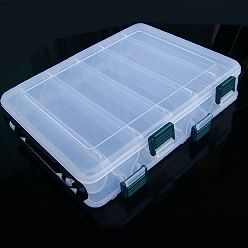 Yosoo Double Sided 12 Compartments Fly Fishing Box Large Fishing Lure Hook Boxes For Fishing Accessories Tool Fishing Tackle Container (Fish Lure Containers compare prices)