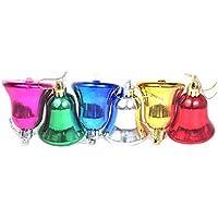 Pragati Pro Multi Colored Christmas Decoration Hanging Bells(Pack Of 6, 3in Bells)