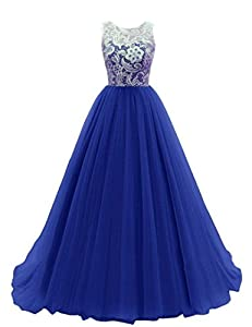 Promonline prom dress lace bridesmaid long evening gowns 2016