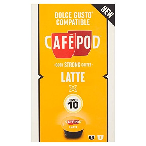 Find CafePod Cafe Latte Dolce Gusto Compatible Capsules 16 per pack - CafPod