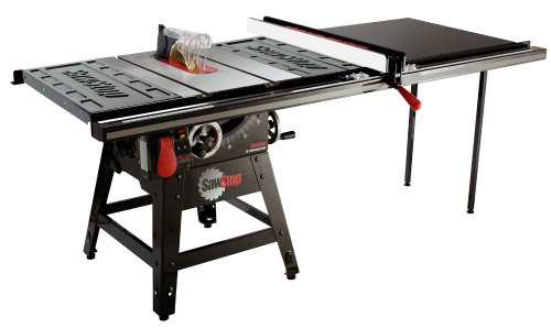 Sawstop cns175 tgp52 1 3 4 hp contractor saw with 52 inch for 52 table saw